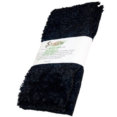 Shaggie Chenille Washcloth Color: Black