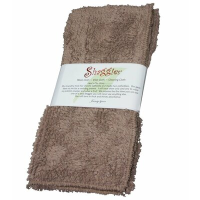 Shaggie Chenille Washcloth Color: Tan
