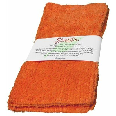 Shaggie Chenille Washcloth Color: Orange