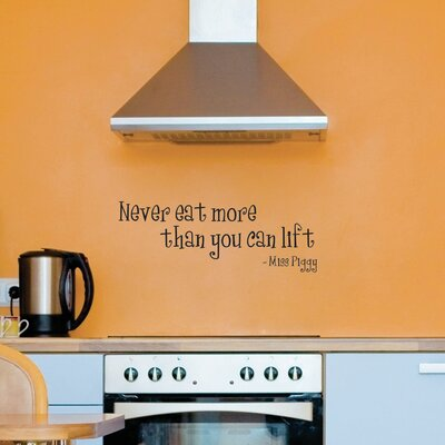 Quotes Never Eat More Miss Piggy Wall Decal