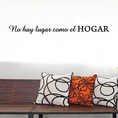 Quotes No Hay Lugar Como El Hogar Wall Decal