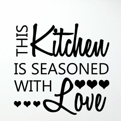 Quotes Seasoned With Love Honey Wall Decal