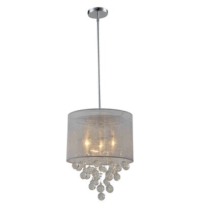 Charlotte 3-Light Drum Chandelier