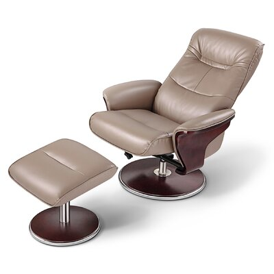 Milano Manual Swivel Recliner With Ottoman