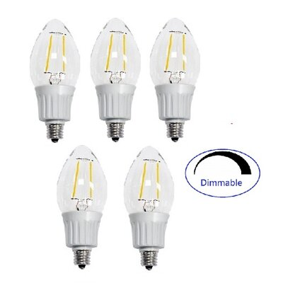 4 Watt Candelabra LED Light Bulb (Set of 5)