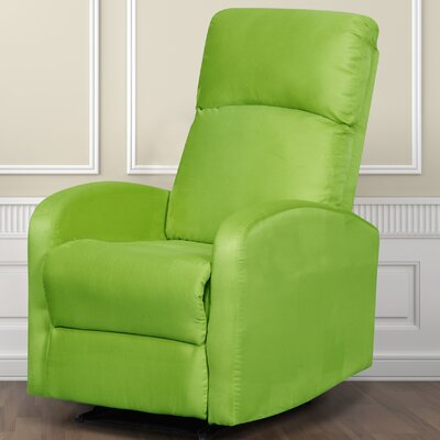 Modern Home Slim Design Recliner Upholstery: Lime Green