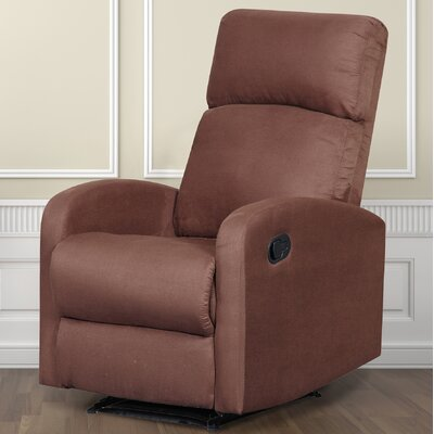 Modern Home Slim Design Recliner Upholstery: Brown