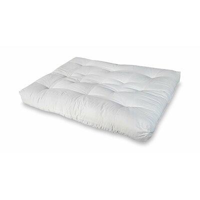 8 Cotton Full Size Futon Mattress Color: Off-White