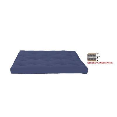8 Medium Innerspring Full Futon Mattress Color: Navy