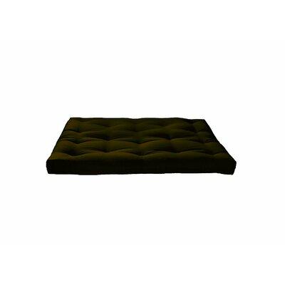 8 Medium Innerspring Full Futon Mattress Color: Dark Olive