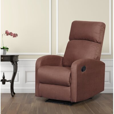Modern Home Slim Design Manual Recliner Upholstery: Brown