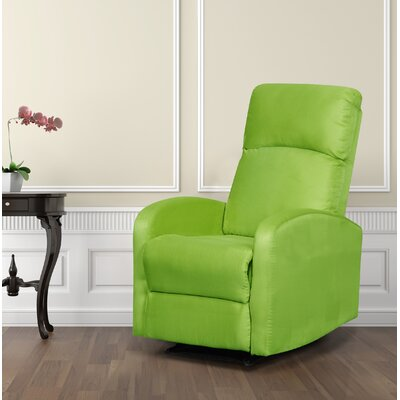 Modern Home Slim Design Manual Recliner Upholstery: Lime Green