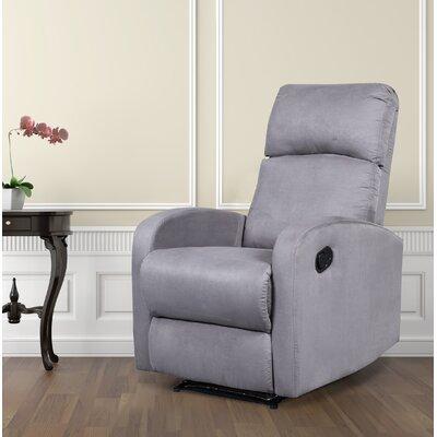 Modern Home Slim Design Manual Recliner Upholstery: Grey
