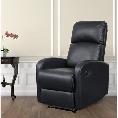 Modern Home Slim Design Manual Recliner Upholstery: Black