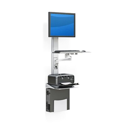 Computer Workstation Height Adjustable Universal Workstation/Cart
