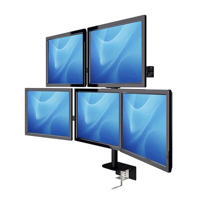 LCD Monitor Height Adjustable 5 Screen Desk Mount