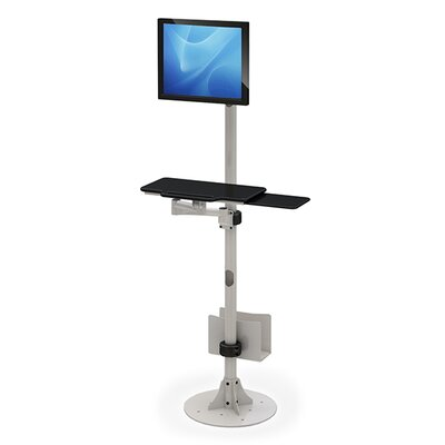 Floor Mounted Height Adjustable Workstation/Cart