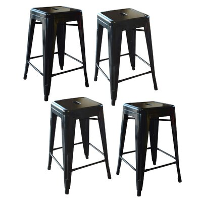 Loft Metal 24 Bar Stool Finish: Black