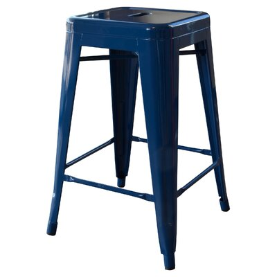 Loft Metal 24 inch Bar Stool Finish: Blue