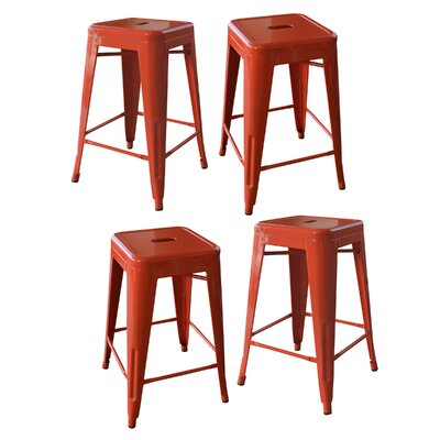 Loft Metal 24 Bar Stool Finish: Orange