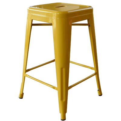 "Loft Metal 24"" Bar Stool Finish: Gold"