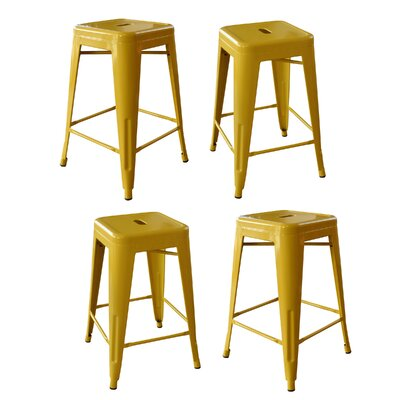 Loft Metal 24 Bar Stool Finish: Gold