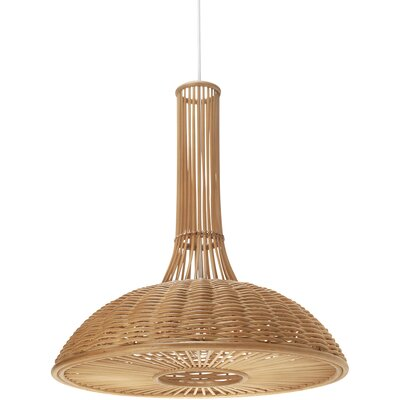 1-Light Wicker Pendant Lamp
