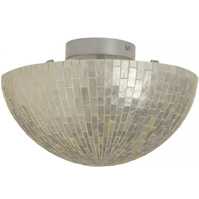 2-Light Semi-Flush Mount Ceiling Lamp