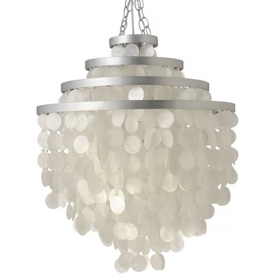 Capiz Seashell 2-Light Crystal Chandelier Shade Color: Natural White