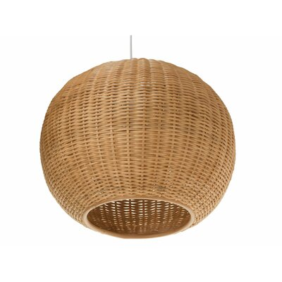 Wicker 1-Light Globe Pendant Shade Color: Natural