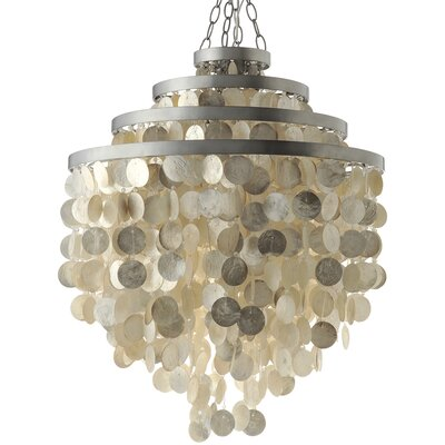 Capiz Seashell 2-Light Crystal Chandelier Shade Color: Champagne
