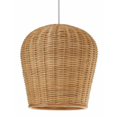 1-Light Wicker Pendant Light
