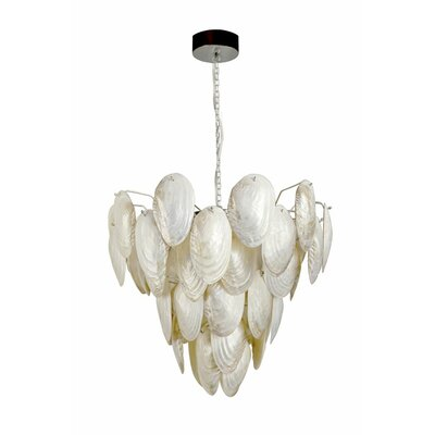 Mother of Pearl Shell 7-Light Pendant Lamp