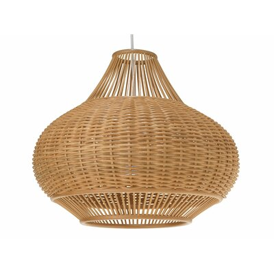 Wicker Pear 1-Light Pendant Lamp
