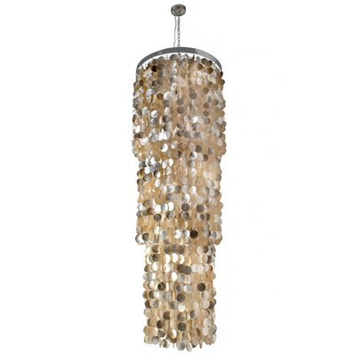 Capiz Seashell 3-Light Crystal Chandelier