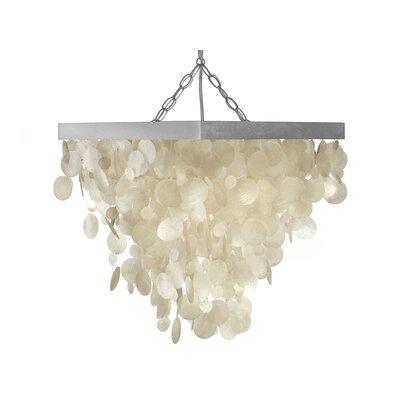 1-Light Capiz Seashell Rain Drop Pendant Lamp