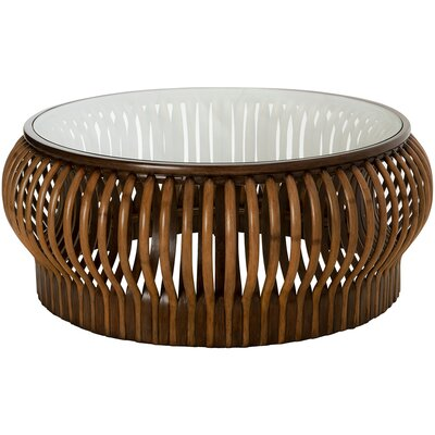 Honey Comb Rattan Coffee Table