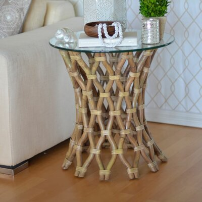 Hoop Rattan End Table