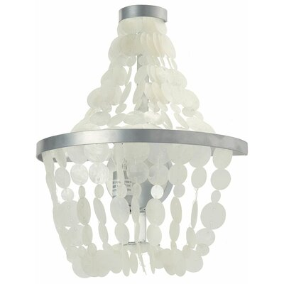 Manor Capiz Seashell 1-Light Mini Pendant Shade Color: Natural White