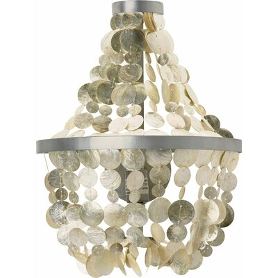 Manor Capiz Seashell 1-Light Mini Pendant Shade Color: Champagne