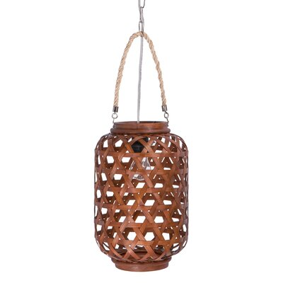 1-Light Drum Pendant Finish: Chocolate, Size: Small