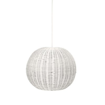 Handwoven 1-Light Drum Pendant Light