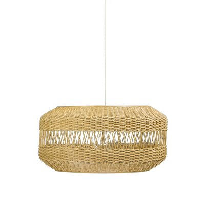 Open Weave 1-Light Drum Pendant