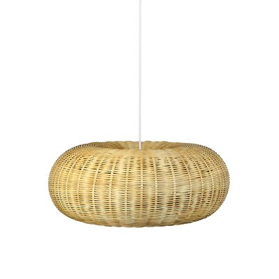 Handwoven Light Drum Pendant