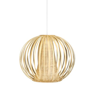 Handwoven 1-Light Globe Pendant