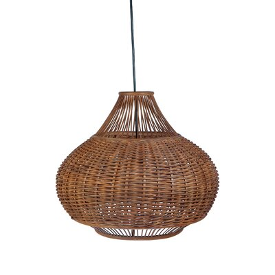 Handwoven 1-Light Pear Pendant Lamp