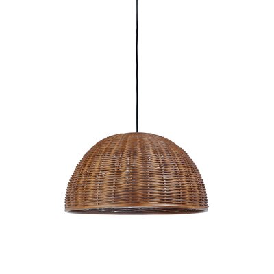 Handwoven 1-Light Bowl Pendant Shade Color: Rustic brown