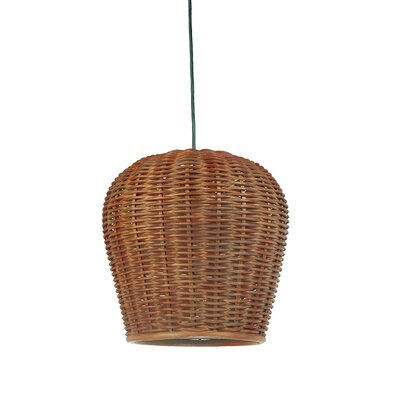 Handwoven 1-Light Pod Pendant Shade Color: Rustic brown