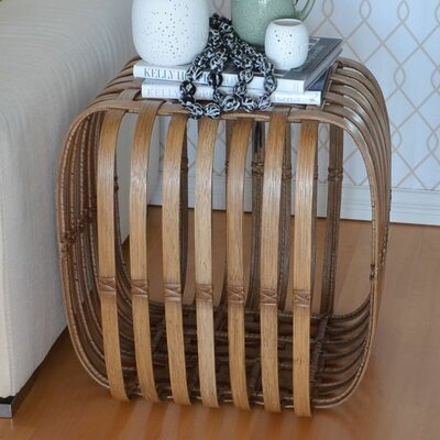 Lattice Rattan End Table