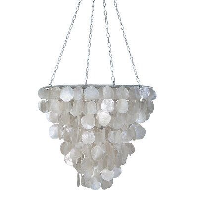 Tapered 2-Light Crystal Chandelier